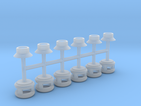 Steam Generator Vents (HO - 1:87) 6X in Smooth Fine Detail Plastic