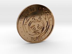 Wolvesatmydoor - Unofficial Token in Polished Brass