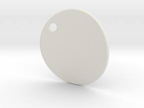 Curved pendant - customization possible  in White Strong & Flexible