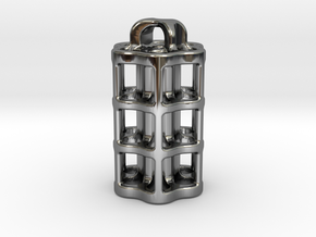 Tritium Lantern 5B (3x22.5mm Vials) in Fine Detail Polished Silver