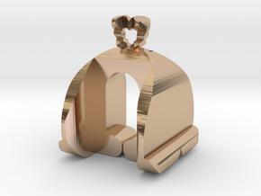 I♥U Shape 2 - MP in 14k Rose Gold Plated Brass