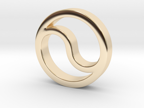 Time and Space Union in 14k Gold Plated Brass
