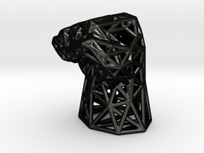 Fight the Power Voronoi Fist in Matte Black Steel