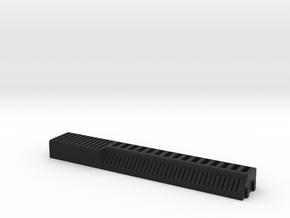 USB Stick and SD Card Holder in Black Natural Versatile Plastic