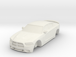 1/87 Dodge Charger in White Natural Versatile Plastic