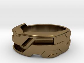 US10.25 Ring XXI: Tritium in Polished Bronze