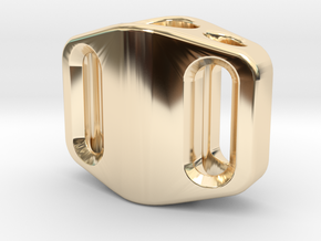 Pedal Bead Ver.1: Tritium (All Materials) in 14k Gold Plated Brass