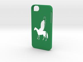 Iphone 5/5s pegasus case in Green Processed Versatile Plastic
