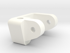 1/5 Scale Caster Block, RH in White Strong & Flexible Polished