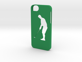 Iphone 5/5s golf case in Green Strong & Flexible Polished