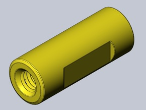GWS Threaded Spacer in Yellow Processed Versatile Plastic