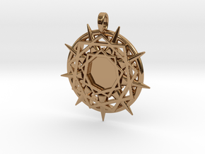 ENNEAGRAM COMPASS in Polished Brass