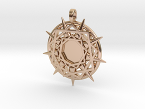 ENNEAGRAM COMPASS in 14k Rose Gold Plated Brass