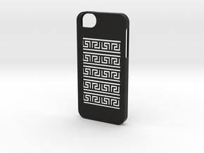 Iphone 5/5s greek meander case in Black Strong & Flexible