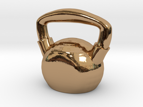 Kettlebell  - Made of Steel in Polished Brass