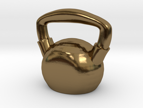 Kettlebell  - Made of Steel in Polished Bronze