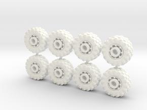 15mm diameter buggy/UTV wheels (8) in White Processed Versatile Plastic