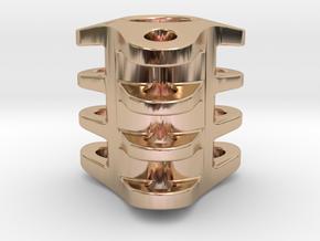 Triple Tritium Bead 3 (2x12mm Vials) in 14k Rose Gold Plated Brass