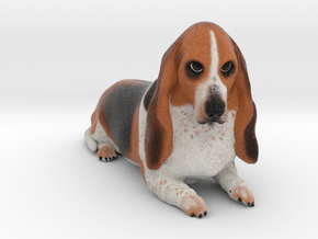 Custom Dog Figurine - Ziggy in Full Color Sandstone