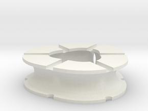 Earbud Case 4 in White Natural Versatile Plastic