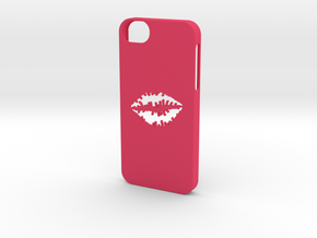 Iphone 5/5s kiss case in Pink Strong & Flexible Polished