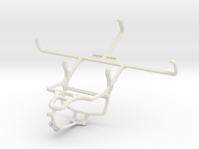 Controller mount for PS4 & PS Vita Slim (PCH-2000) in White Natural Versatile Plastic