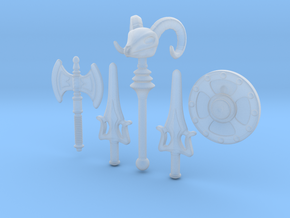 MOTU weapons bundle for Lego in Smooth Fine Detail Plastic