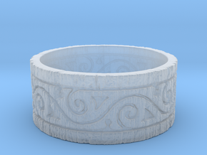 Weathered Wood Tribal Ring in Smooth Fine Detail Plastic