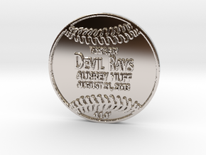 Aubrey Huff in Rhodium Plated Brass