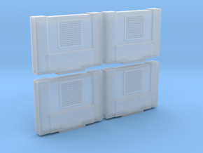 Cab Air Conditioner Prime Style (HO - 1:87) 4X in Smooth Fine Detail Plastic