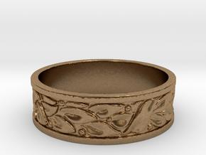 Laurel Wreath Ring in Natural Brass