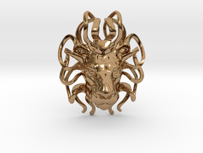 Leo Zodiac Pendant in Polished Brass