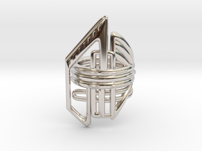 Balem's Ring2 - US-Size 11 1/2 (21.08 mm) in Rhodium Plated Brass