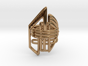 Balem's Ring2 - US-Size 11 1/2 (21.08 mm) in Polished Brass