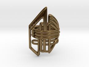 Balem's Ring2 - US-Size 10 1/2 (20.20 mm) in Polished Bronze
