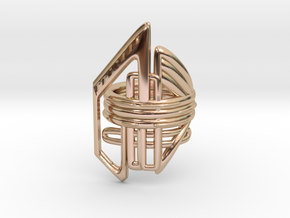 Balem's Ring2 - US-Size 9 (18.89 mm) in 14k Rose Gold Plated Brass