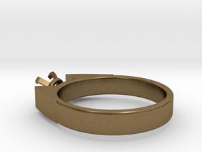 Alessa Design Ring For Diamond Ø17.83mm (Ø6mm New  in Natural Bronze