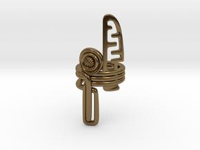 Balem's Ring3 - US-Size 10 1/2 (20.20 mm) in Polished Bronze