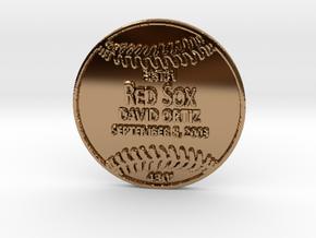 David Ortiz in Polished Brass