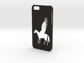Iphone 6 Pegasus case in Black Natural Versatile Plastic