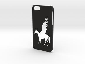 Iphone 6 Pegasus case in Black Natural Versatile Plastic