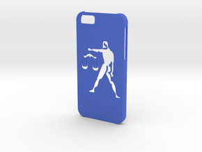 Iphone 6 Libra case in Blue Processed Versatile Plastic