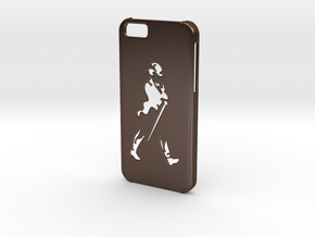 Iphone 6 Johnnie Walker case in Polished Bronze Steel