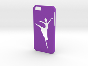 Iphone 6 Ballet dancer case in Purple Processed Versatile Plastic