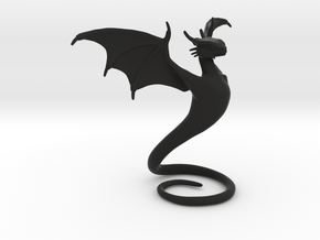 Desk Dragon in Black Natural Versatile Plastic