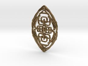 micro Medallion 7 in Natural Bronze