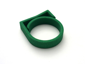 Adjustable ring for men. Model 8. in Green Strong & Flexible Polished