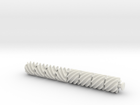 Helical 8tooth in White Natural Versatile Plastic