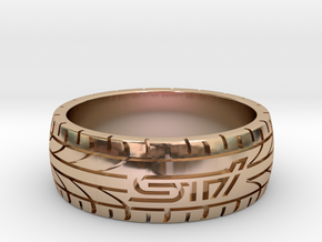 Subaru STI ring - 20 mm (US size 10) in 14k Rose Gold Plated Brass