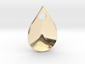 dragon scale droplet in 14K Yellow Gold